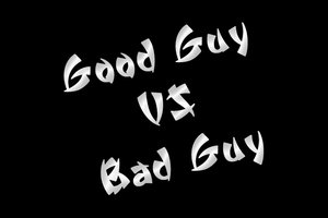 Image result for good guy vs bad guy