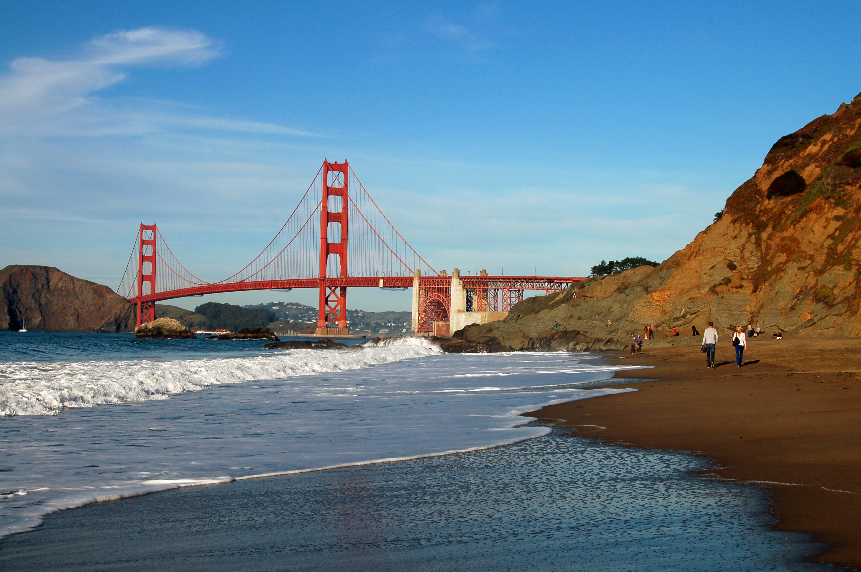 Baker beach in the Presidio, San Francisco.