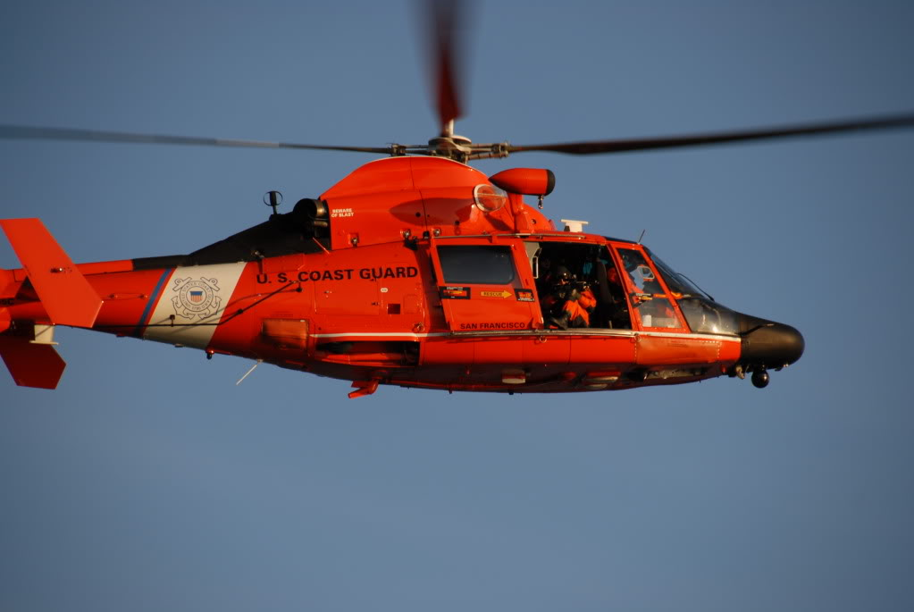 Coast Guard Helicopter Crash Lands At SFO. Photo Courtesy of Coast Guard.