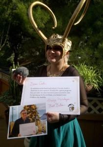 Bill Gates sends a Loki crown to a fellow redditor as a secret santa present. Photo courtesy redditor TDFlynn