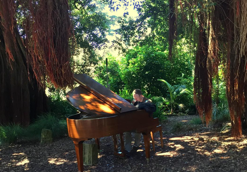 One of the 12 pianos in the Botanical Garden. Image Couretsy Akemi @ImekaSF