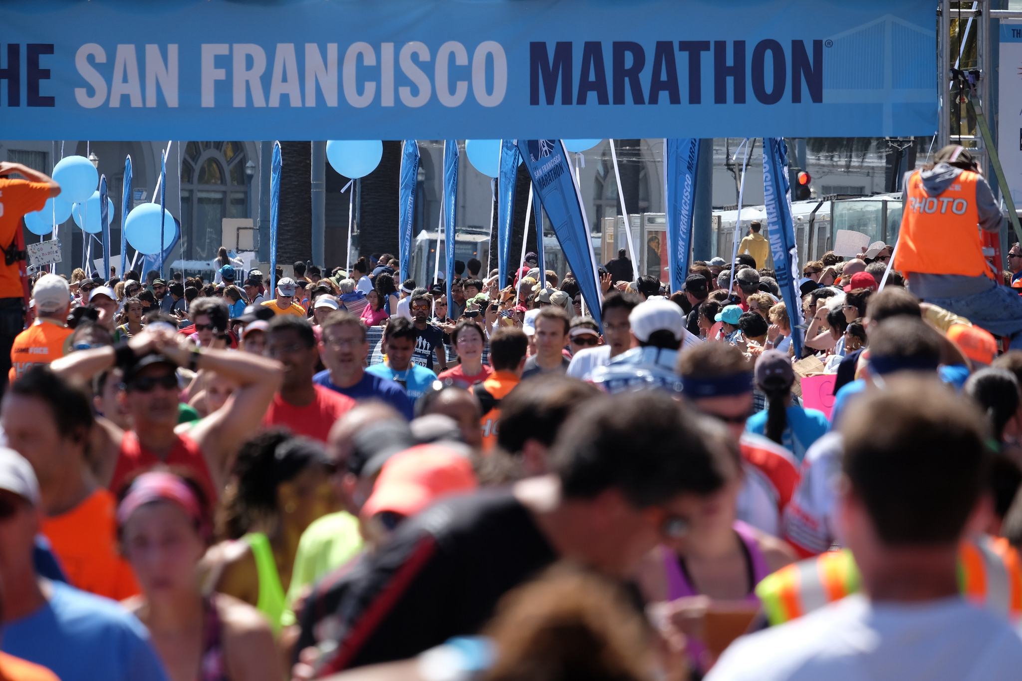 The top finishers for all of the 38th San Francisco Marathon's events have been announced. Photo by Jun Seita.