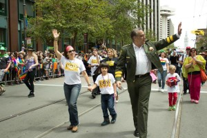 Mirkarimi, seen here marching at SF's Pride Parade earlier this year, is seeking re-election in November.