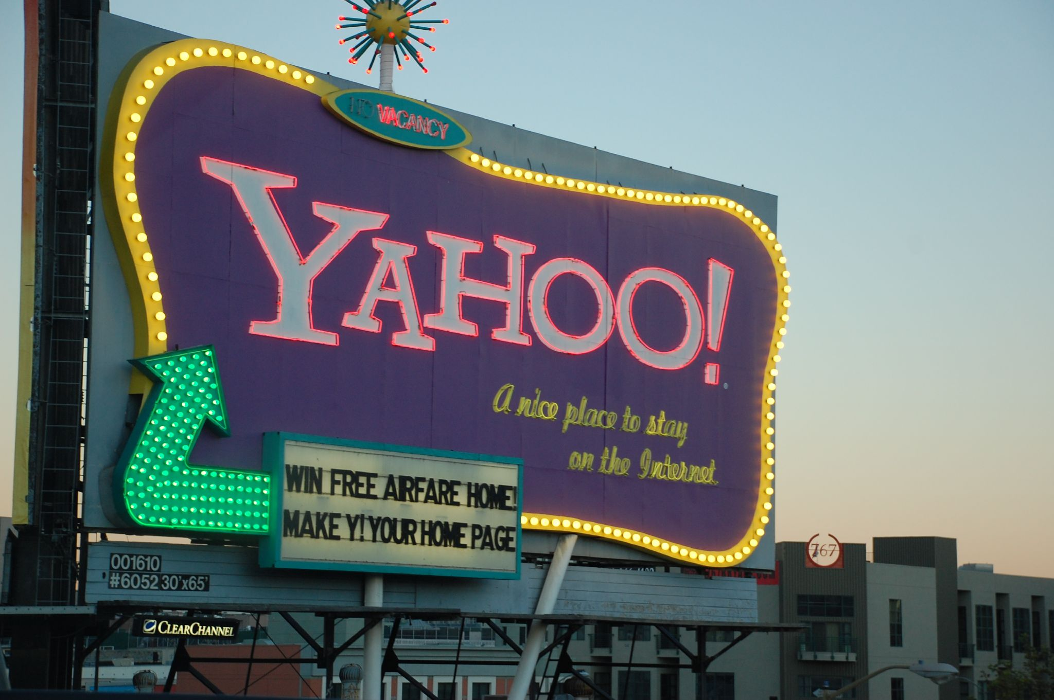 After four years, Google competitor Yahoo will be reclaiming its iconic billboard off the Interstate 80 in San Francisco. Photo by Peanutian.