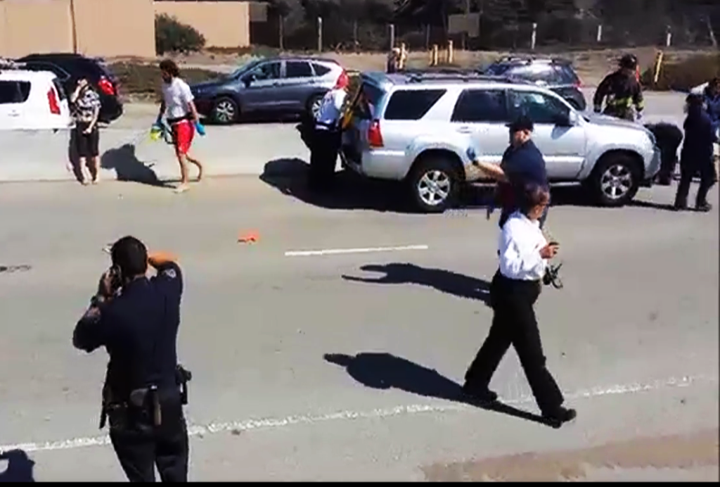 The Great Highway was closed between Lincoln and Sloat due  to police investigation of the injured kite surfer.