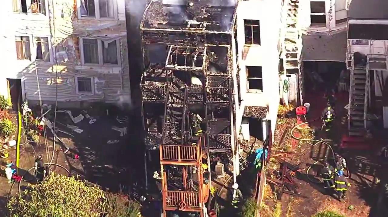 Three-Alarm Fire in SF's Inner Richmond District