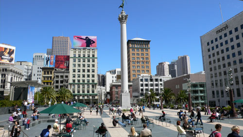 motorcyclist kills pedestrian in union square san francisco news