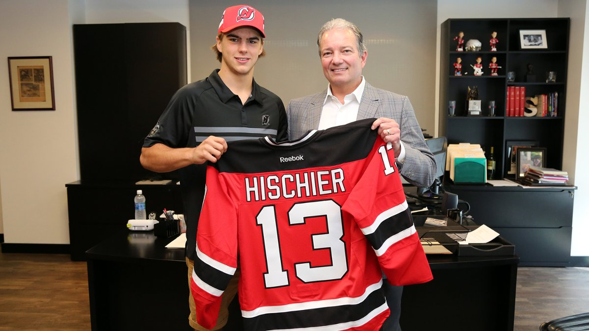 new york 64be4 d7c87 Nico Hischier, 1st Overall Pick, Signs With NJ Devils - San ...