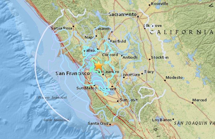 berkeley earthquake felt in san francisco