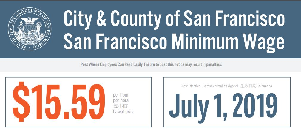 Minimum wage increase notice informational visual