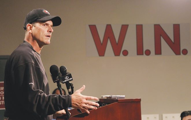 A history of success may not be enough to salvage Harbaugh's tenure in San Francisco.
