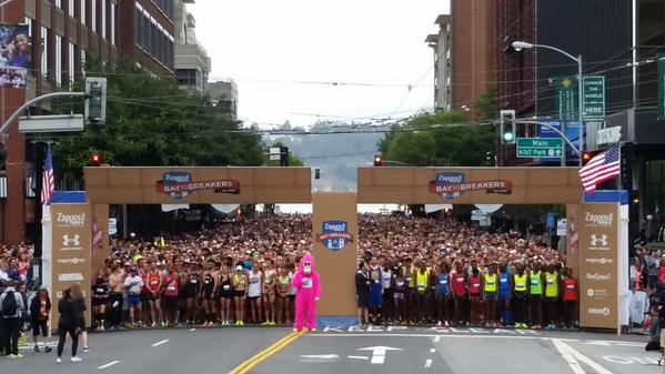 50,000 runners participated in the Bay to Breakers race Sunday