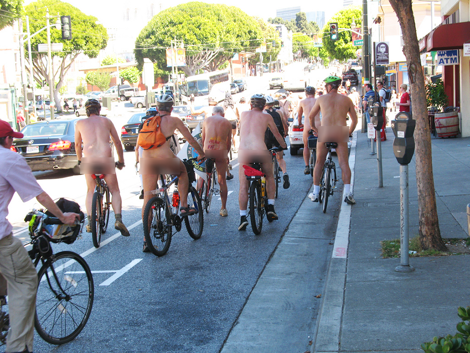 World Naked Bike Ride, San FranciscoPhoto by Gary StevensThe San Francisco News