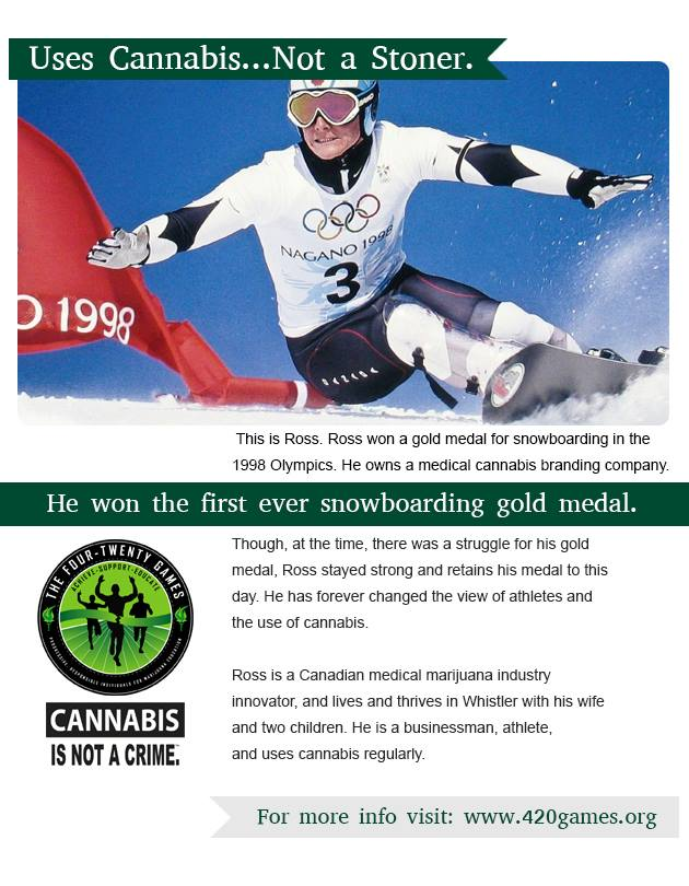 """A post promoting """"healthy"""" use of marijuana on The 420 Games' Facebook page"""