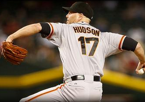 Tim Hudson will start for Saturday's game against the Athletics. If the Giants lose, the Dodger will have clinched the top spot in the NL West division.