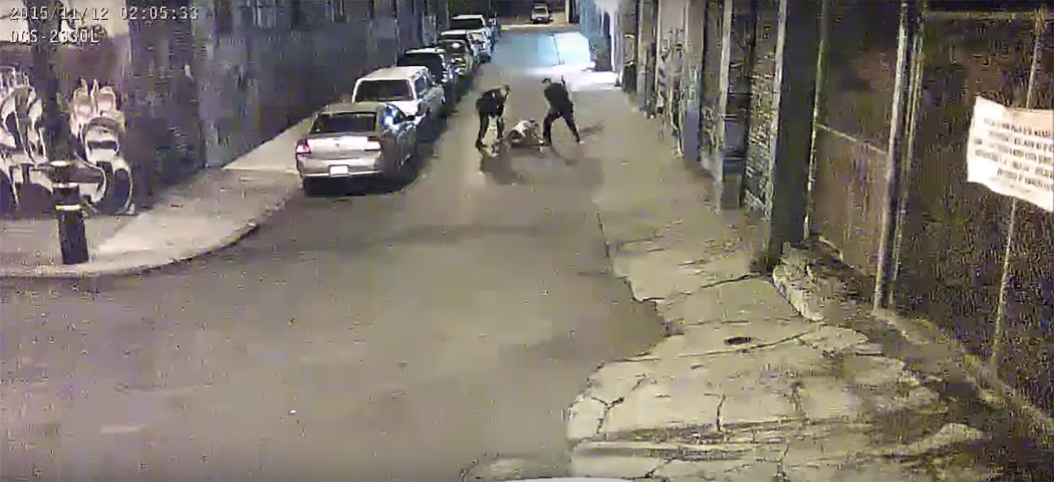 San Francisco Public Defenders release footage of two Alameda County deputies beating a man who fled in a high-speed car chase after possessing a stolen vehicle.