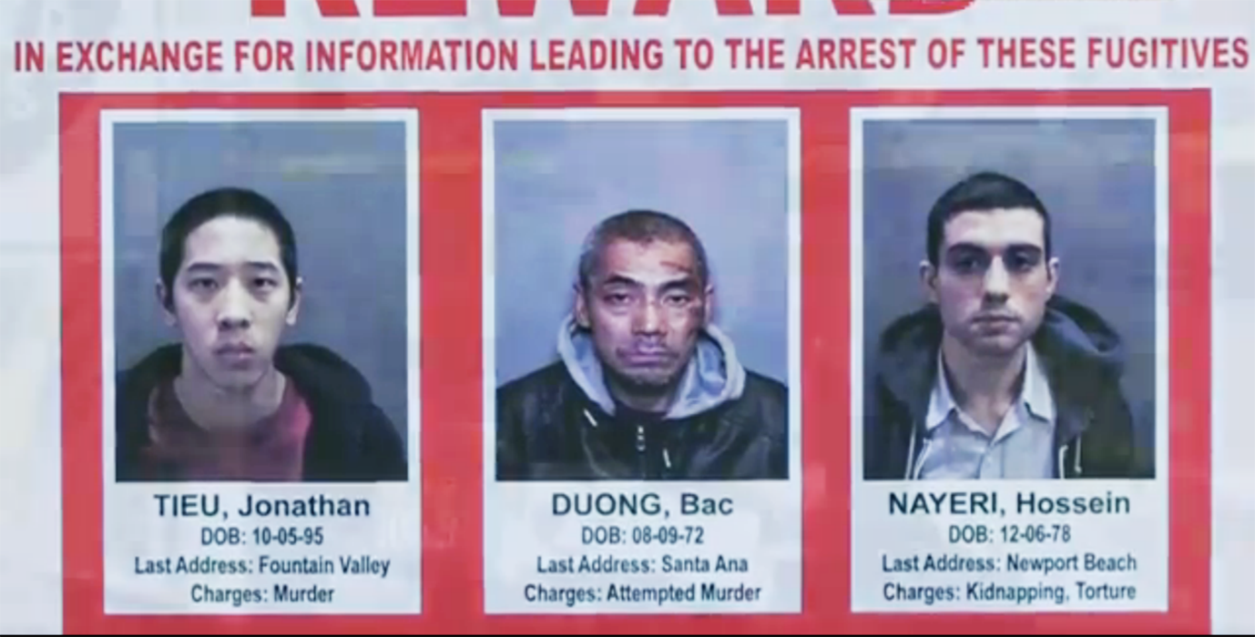 On January 22, three men escaped from the Orange County Men's Jail. According to police, the men cut a hole in a metal grate, crawled through plumbing tunnels, and scaled down the five-story jail building by rappelling down linked bedsheets turned into rope.