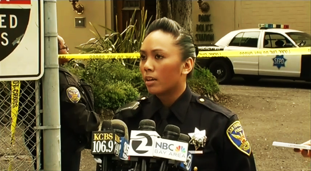 Officer Grace Gatpandan reminds the public to speak up and report any suspicious activity to the SFPD.