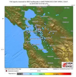 "Hayward fault earthquake ""felt report."""