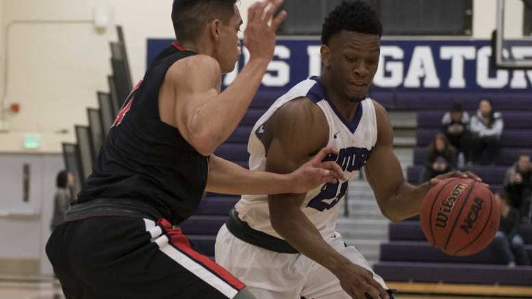 SF Gators sophomore Chiefy Ugbaja during the Cal State East Bay match.