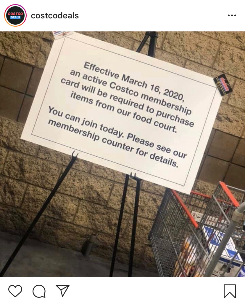 Costco will soon require a membership to purchase food court items.