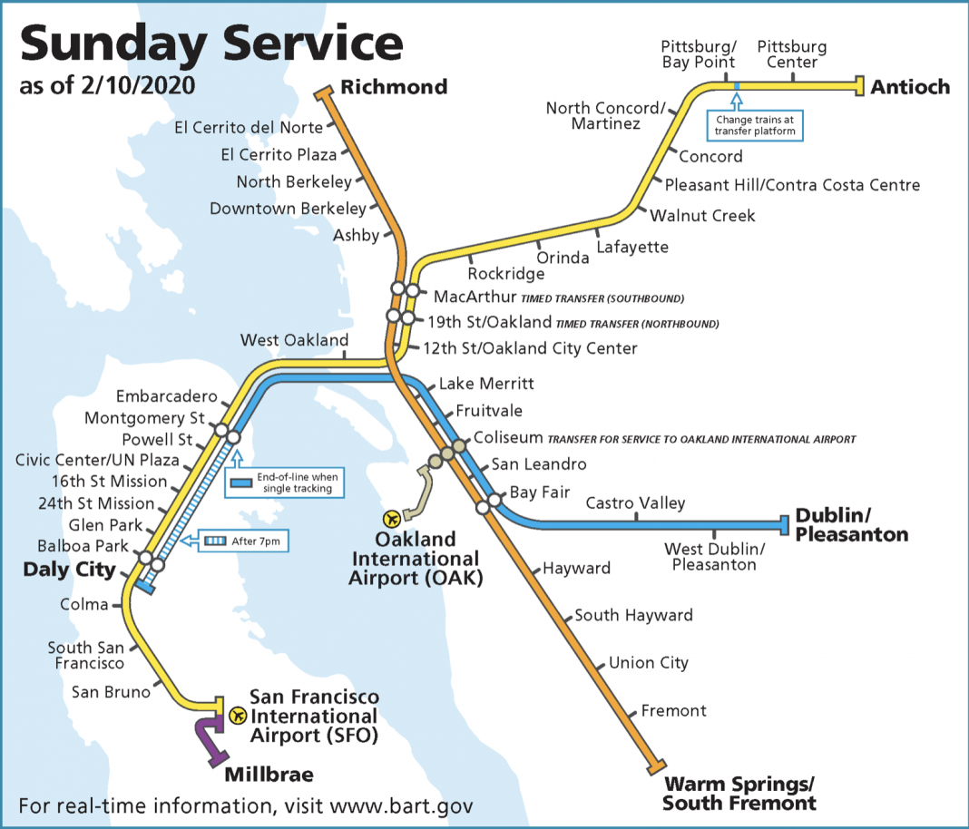 BART schedule and operational changes will begin Monday, February 10.