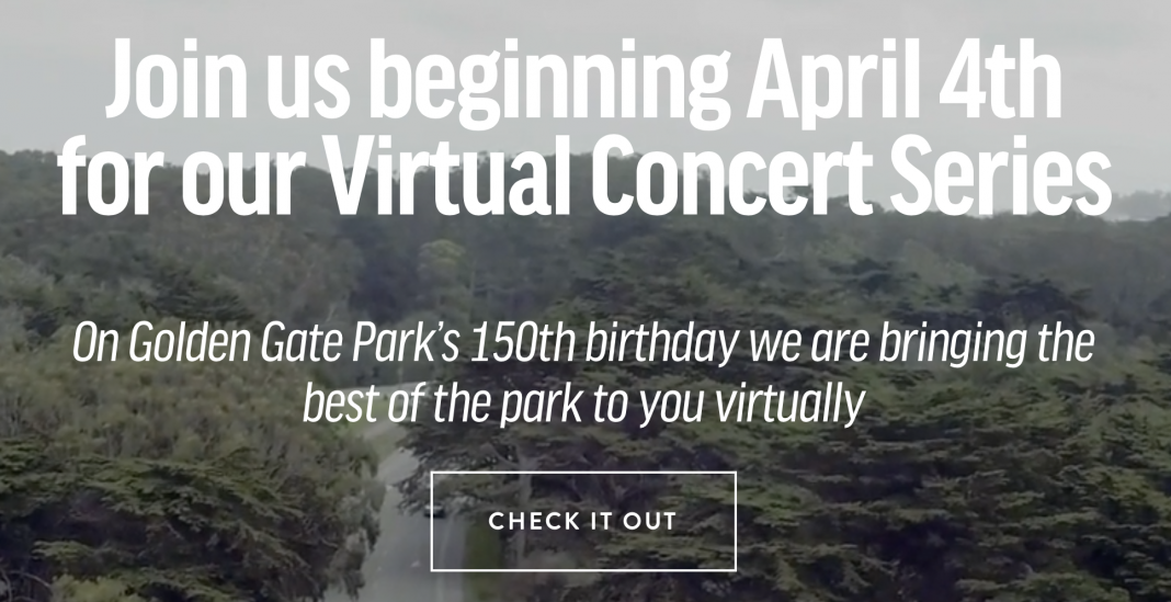 The Golden Gate Park organizers confirmed that the 150 year celebration will be postponed to a later date.